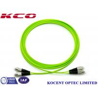 Quality FC-FC OM5 Optical Fiber Patch Cable Jumper Cord 100G Multimode 50/125 Lime Green PVC wholesale
