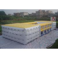 Quality Durable 0.9mm PVC Tarpaulin Inflatable Cube / Inflatable Obstacle Course For Fun wholesale