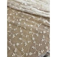 Quality Ivory Vintage Floral Nylon Lace Fabric By The Yard For Wedding Dresses 120cm Width wholesale