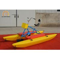 Quality Durable Water Bike Pedal Boats 3.16 * 1.43 * 1.28 M PE Plastic Material wholesale