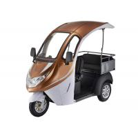 Quality Smart Digital LED Display Electric Tricycle Passenger , 1200W Brushless Motor Enclosed Bicycle Car wholesale