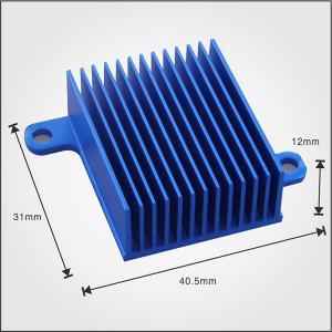 Custom Design Profile Extruded Aluminium Heat Sink Profiles 40mm With Blue Anodized