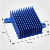 Cheap Custom Design Profile Extruded Aluminium Heat Sink Profiles 40mm With Blue Anodized for sale