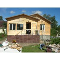 Quality Steel Structure Modern Wooden Log Houses , High Insulation Prefabricated Bungalow Homes wholesale