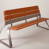 China 26W Inch Long Backrest Composite Wood Bench on sale