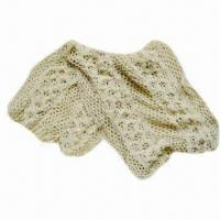 Quality Knitted scarf, lace-like design, made of 100% acrylic wholesale
