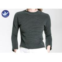 Quality Charm Crop Top Womens Knit Pullover Sweater Lady  Three Quarter Sleeves Short Turtle Neck wholesale