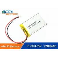 Quality 503759 pl503759 3.7v 1200mah lithium polymer battery rechargeable li-ion batteria wholesale