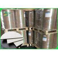 Quality Thickness 1 / 1.5 / 2.0 / 2.5mm Grey Cardboard Sheets Recycled Paper For Boxes wholesale