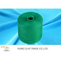 Quality Green Polyester Dyed Yarn 50 / 2 ,  Eco - Friendly Polyester Twisted Yarn Good Evenness wholesale