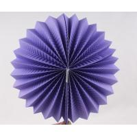 Quality Purple Paper Luxury Paper Accordion Lanterns / Balls With Round Shaped wholesale