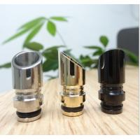 China EGO Stainless E Cig Drip Tips , Muffler Wide Bore Chrome 510 Drip Tips on sale