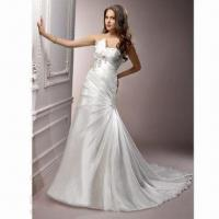 Quality Organza A-line Elegant Bridal Dress wholesale