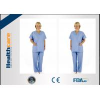 Buy cheap Colorful Disposable Operating Scrubs Now-woven For Laboratory Anti - Bacteria With CE from wholesalers