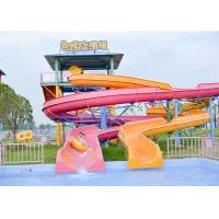 China Outdoor Spiral Slide Water Pool Slide Playground For Amusement Park on sale
