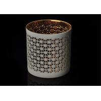 Quality Luxury Custom Ceramic Candle Holder Tealight Candle Holder with Hollow Pattern wholesale