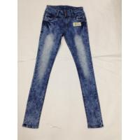Quality Western Fashion White Loose Fit Tapered Leg Jeans , Low Rise Skinny Jeans For Women wholesale