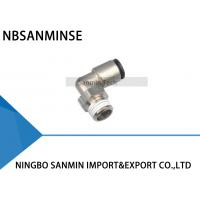 China PLP All Brass Body Pneumatic Air Fittings With Plastic Sleeve Push - In Fittings on sale