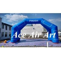 Quality custom 6m wide inflatable finish arch hold a timer with magic stick for sport racing wholesale