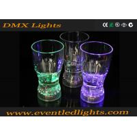 Green / Purple Home Decoration Led Plastic Cups Flashing Drinking