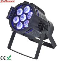 Quality 5 in1 15W RGBWA 7PCS LED Par Can Stage Lights , 15 ~ 40 degree Beam Angle wholesale
