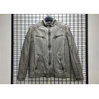 Quality Winter Mens PU Jacket , Pu Leather Jacket With Garment Dyed Technical wholesale