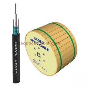 Quality Outdoor Uni Tube Armored Duct Fiber Optic Cable Singlemode 12C 16C 24C PE Jacket wholesale