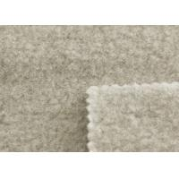 Natural Welsh Wool Interlock Fabric , Thick Wool Felt Upholstery Fabric