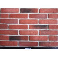 Quality Red Classical Faux Exterior Brick Solid Surface Acid Resistance For Construction wholesale