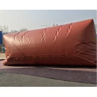 Quality Flexible PVC Red  Methane Storage Tank With TPU Tarpaulin For Cooking Fuel wholesale