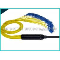 Quality Yellow Pre Terminated Fibre Cable 24 Strands Pulling Eye 10Hz - 55Hz Vibration wholesale