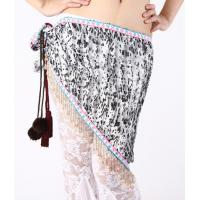 Quality Delicate Louver Beruffled Belly Dancing Hip Scarves , Belly Dance Practice Wear wholesale