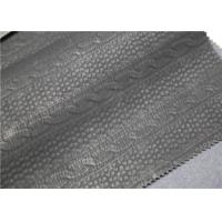 China Carbon Black PU Washed Leather Handfeeling No Fading For Clothing Fabric on sale