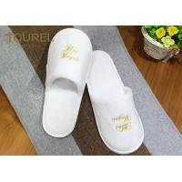 China Incredibly Disposable Hotel Slippers Comfortable Premium 100% Cotton Cloth SPA Slippers on sale