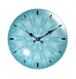 China Retro Farmhouse Decor Rustic Colorful Wooden Pendulum Wall Clocks Style Wholesale Decorative Quartz Round Face on sale