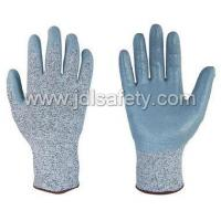 China Cut Resistant Glove Coated with Grey Smooth Nitrile on sale
