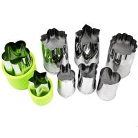 Quality Vegetable Cutters Shapes Set (8 Piece) - Cookie Cutters Fruit Mold Cheese Presses Stamps for Kids Shaped Treats Food wholesale