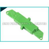 Quality High Precision Alignment Fiber Optic Adapter E2000 APC Green 0.15 dB Insertion Loss wholesale