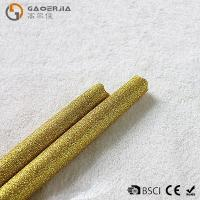 Quality Gold Glitter LED Taper Candles With Timer , Flameless Real Wax Candle wholesale