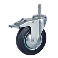 Quality Rubber caster with brake wholesale