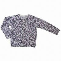 Quality Children's knitted cardigan, animal all over printing, with front buttons wholesale