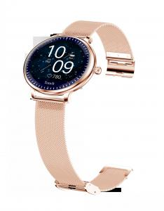 """Quality Ladies Round Screen 1.08"""" Blood Pressure Heart Rate Smart Watch wholesale"""