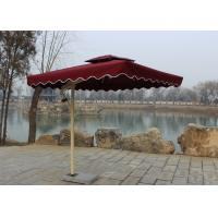 Quality Sunshade Market Rectangular Outdoor Umbrella Windproof Without Water Tank Base wholesale