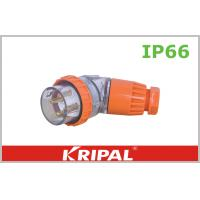 Quality Orange 56 Series 500V Angled IP66 Plugs / Outdoor Plug Customized wholesale