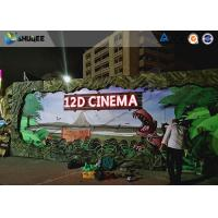 Quality Realistic Multidimensional Dinosaur 12D Movie Theater With Luxurious Seats wholesale