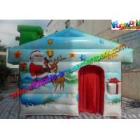 Quality Customized Inflatable Christmas Decorations , PVC Inflatable Santa Grotto House wholesale