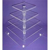 Quality Eco-Friendly 5-Tier Acrylic Bakery Display Case For Cupcake , Cookie wholesale
