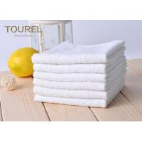 Quality White Cotton Washcloths 100% Long Stapled Luxury Face Flannels wholesale