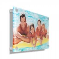 Quality Concise clear acrylic photo frames /wall mounted plexiglass picture holder / decorative lucite block wholesale