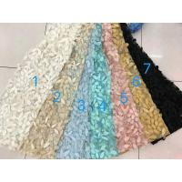 Quality 3D Flower Multi Colored Lace Fabric For Show / Embroidered Sequin Lace Fabric wholesale